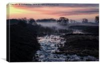 Foggy Sunrise At Chasewater, Canvas Print