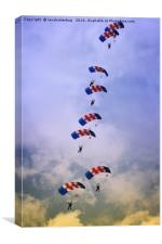 RAF Falcons Stack Formation, Canvas Print