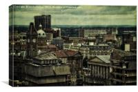 Birmingham Roof Tops, Canvas Print