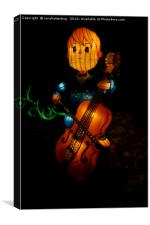 Magical Lantern Festival - Boy And The Bass, Canvas Print