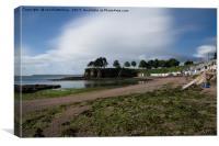 Torquay Corbyn Sands Beach Huts, Canvas Print