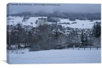 White Snowy Brotterode, Canvas Print