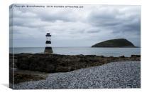 Trwyn Du Lighthouse And Puffin Island, Canvas Print