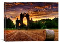 Priory Sunset, Canvas Print