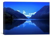 Lago Fedaia, Canvas Print