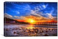 Tidal Sunset, Canvas Print
