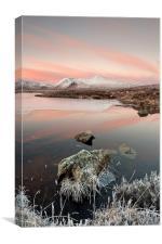 Lochan Nah Achlaise Sunrise, Canvas Print