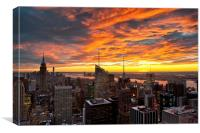 New York Sunset II, Canvas Print