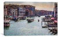 View From The Rialto Bridge, Canvas Print