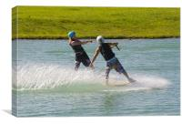wakeboard tandem, Canvas Print
