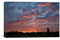 London sunrise, Canvas Print