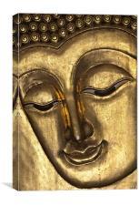 Buddha face, Canvas Print