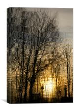 Sunset reflection 2, Canvas Print