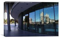Tower Bridge reflection, Canvas Print