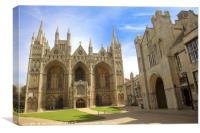 Peterborough Cathedral, Peterborough, Cambridgeshi, Canvas Print