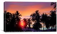 Phuket sunset, Canvas Print