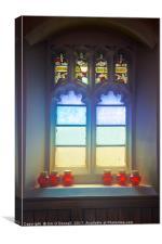 St John the Baptist Greek Orthodox church window , Canvas Print