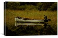 Boat reflection, Canvas Print
