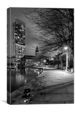 Manchester By Night., Canvas Print
