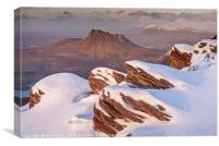 Stac Pollaidh and Suilven from The Fiddler., Canvas Print