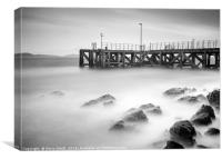 The Pier at Achiltibuie., Canvas Print