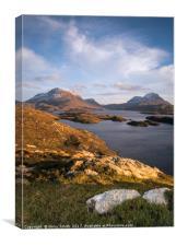 Cul Mor and Cul Beag, North West Highlands, Scotla, Canvas Print