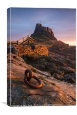 Lindisfarne Priory, Holy Island, Northumberland., Canvas Print