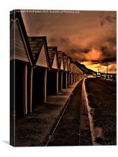 bournemouth beach huts, Canvas Print