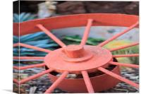 Rustic Wheel, Canvas Print