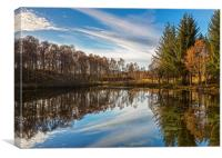 Lochan Reflections, Canvas Print