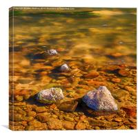 River Rocks, Canvas Print