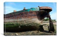 Rusting Wreck, Canvas Print