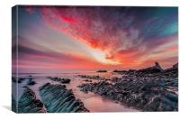 North Devon Sunset, Canvas Print