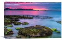 Sunrise over Torquay., Canvas Print