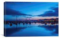 Torquay Harbour After Sunset., Canvas Print