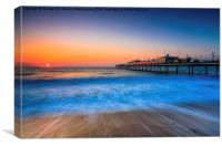 Paignton Beach Sunrising., Canvas Print