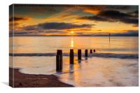 Beach Golden Sunrise, Canvas Print