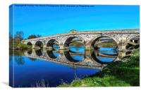 River Severn Bridge At Atcham, Canvas Print