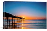 Teignmouth Pier Sunrise, Canvas Print