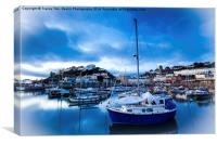 Torquay Harbour Blues, Canvas Print
