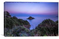 Thatcher Rock at Sunset, Canvas Print