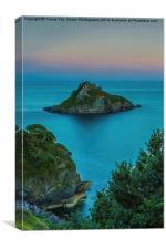Thatcher Rock at Sunset., Canvas Print