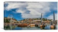 Torquay Harbour., Canvas Print