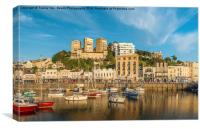 Torquay Harbourside., Canvas Print