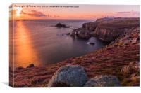 Lands End Sunset, Canvas Print