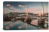 Torquay Marina Millennium Bridge., Canvas Print