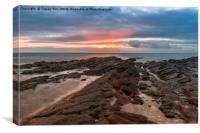Shoalstone Sunrise., Canvas Print