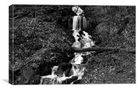 Hardcastle Crags B&W, Canvas Print