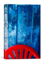 Blue and Red, Canvas Print