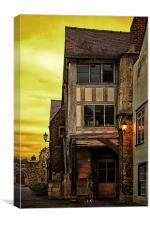 Medieval Alley, Canvas Print